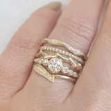 Dew Drops Ring in 14K Yellow Gold