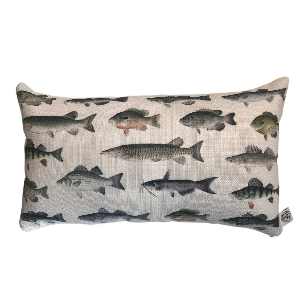 Indoor/Outdoor Lumbar Pillow (Denton Fish)