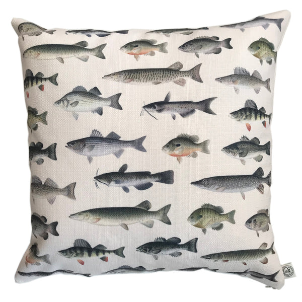 Indoor/Outdoor Pillow (Denton Fish)
