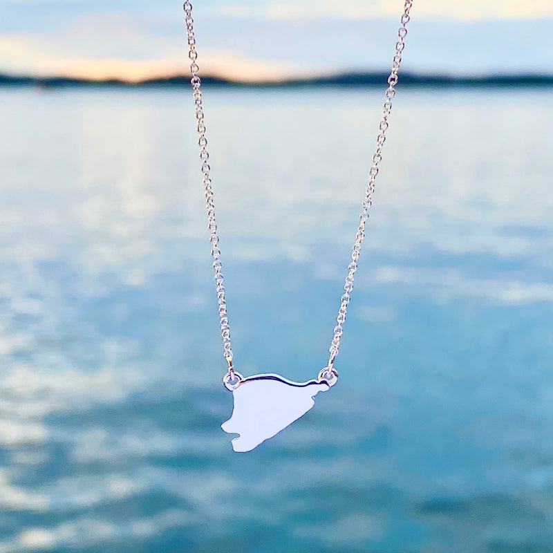 Heart Island Necklace