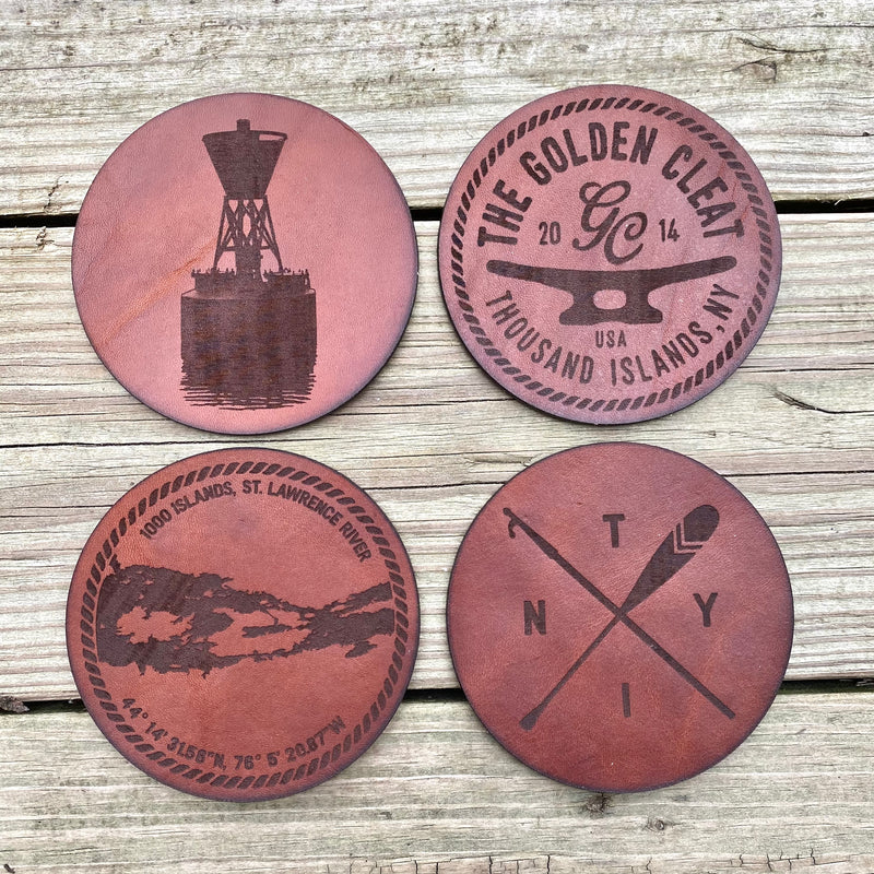 Leather Coasters (Set of Four)