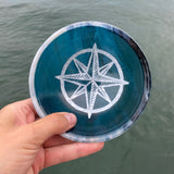 Small Glass Bowl (Compass Rose)
