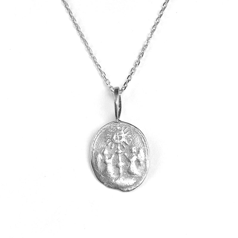Two Angels Pendant Necklace in Sterling Silver