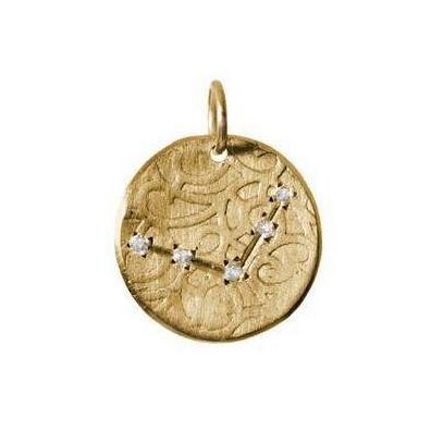 Libra Constellation with Diamonds in 10K Gold