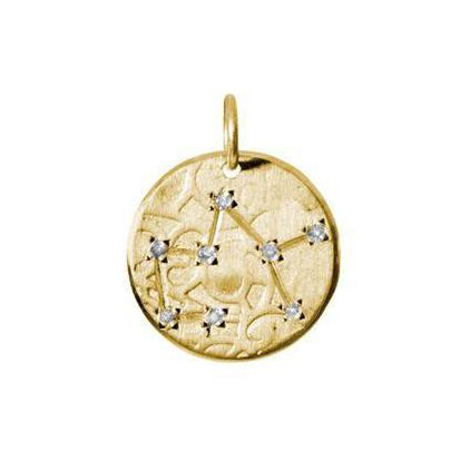 Sagittarius Constellation with Diamonds in 10K Gold