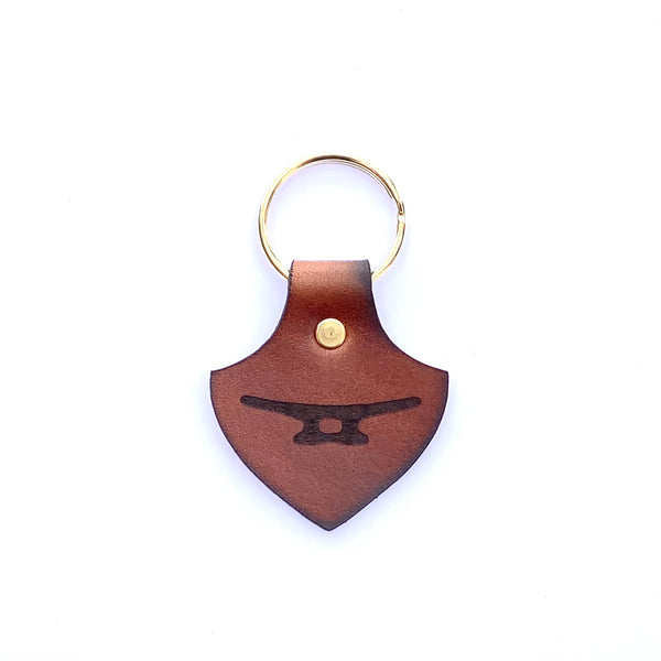 Leather Cleat Keychain
