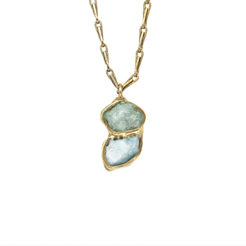 Immersion Pendant Necklace (Aquamarine)