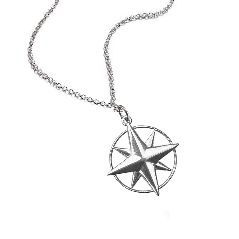 Large Compass Rose Necklace