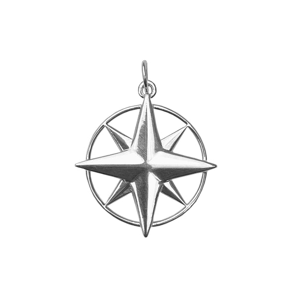 Large Compass Rose Charm