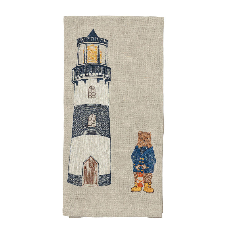 Tea Towel (Lighthouse Bear)