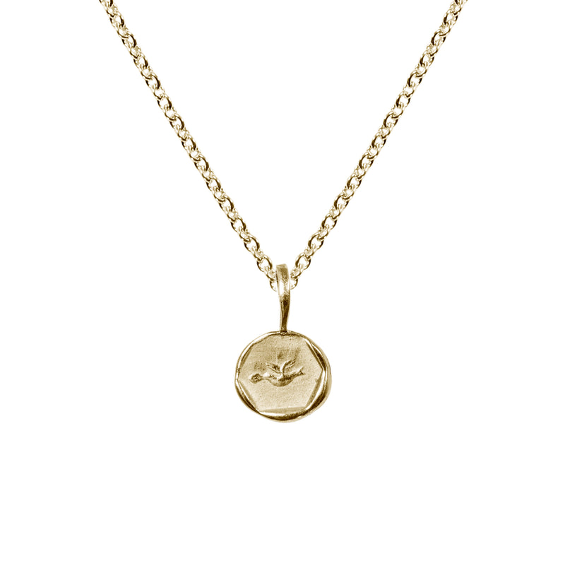 Love Letter Artifact Necklace in 14k Gold