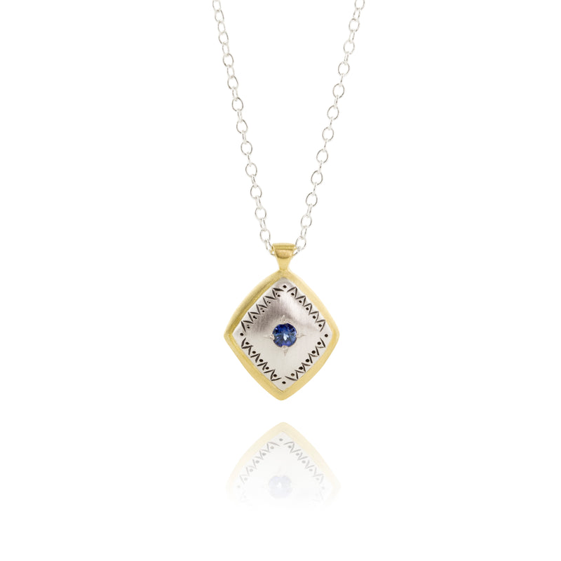 Lumiere Necklace with Sapphire in Sterling Silver
