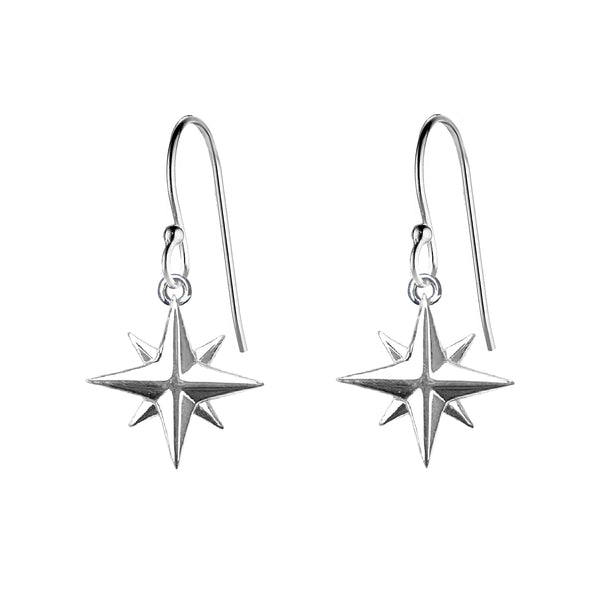 Medium Compass Rose Earrings