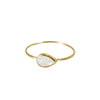 Moonstone Ring in Solid 18K Gold