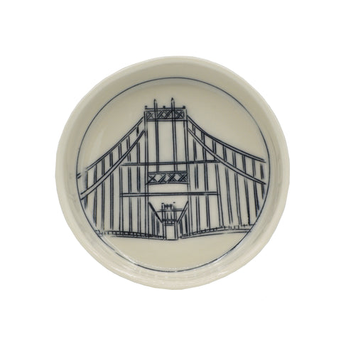 Nicole Aquillano Ceramics Thousand Islands Bridge Tiny Round Dish