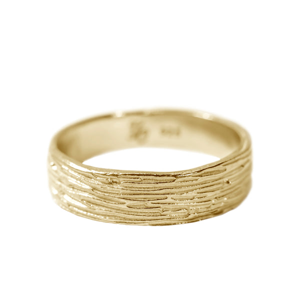 Classic Ripple Ring in 14K Yellow Gold
