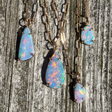 Large Teardrop Shaped Opal Pendant (Claw Set)