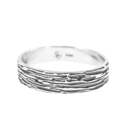 Men's Ripple Ring (Oxidized)