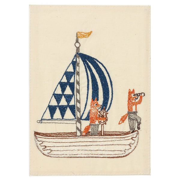 Embroidered Card (Sailboat)