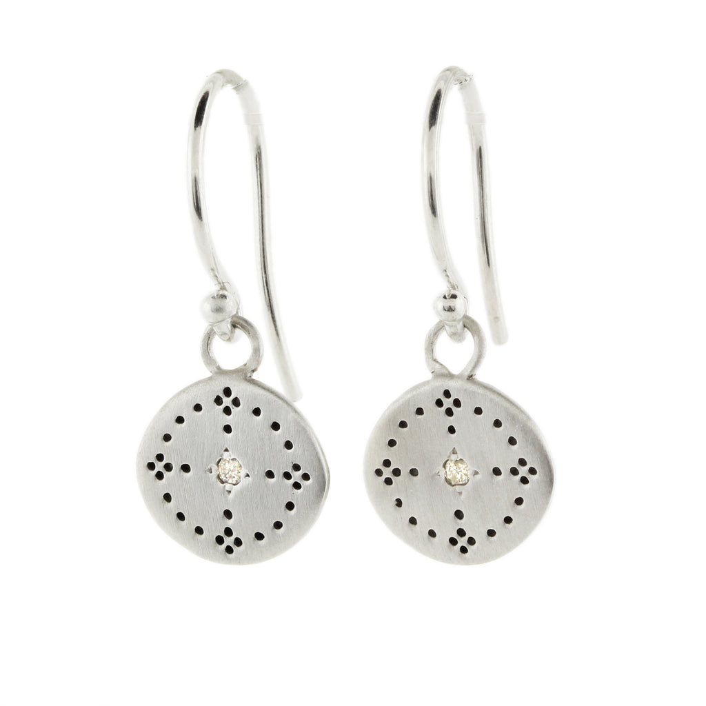 Nostalgia Earrings with Diamonds in Sterling Silver