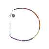 Chakra Gemstone Beaded Color Block Bracelet (2.5MM)