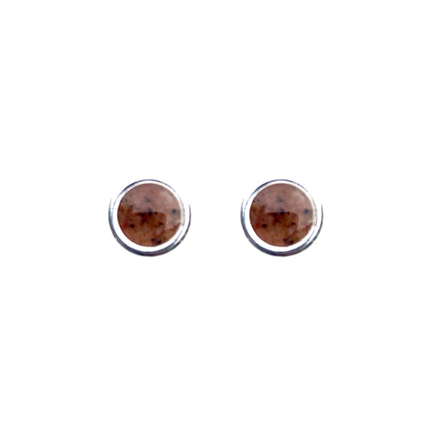 Grindstone Granite Stud Earrings