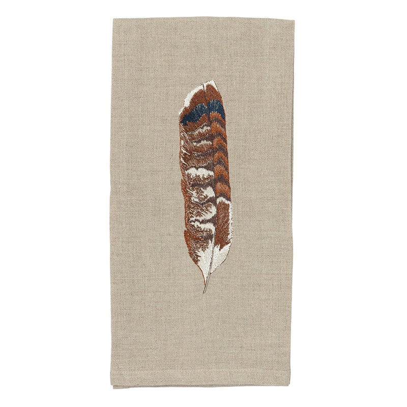 Tea Towel (Red-Tailed Hawk Feather)