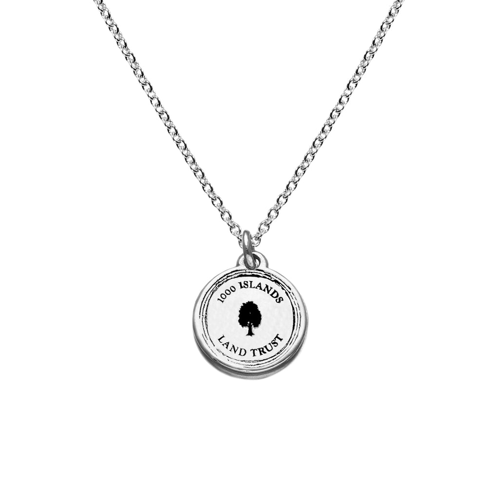 Small Disc Necklace in Sterling Silver (TILT)