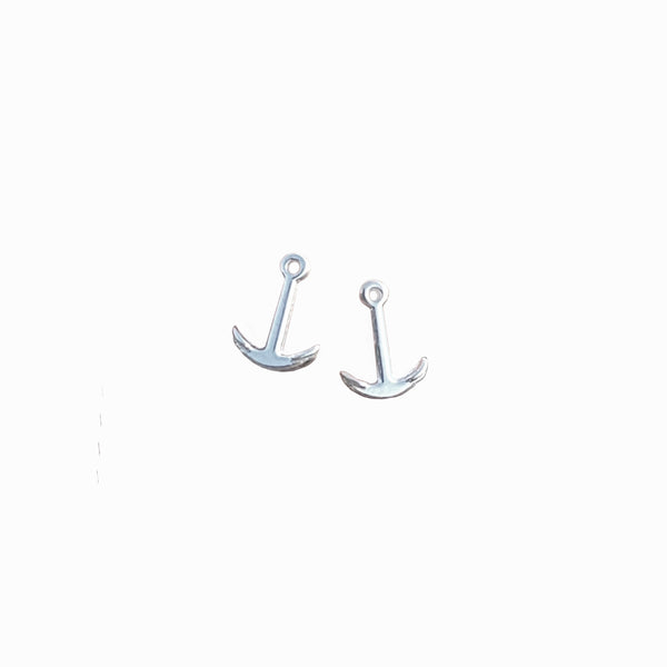 Tiny Anchor Stud Earrings