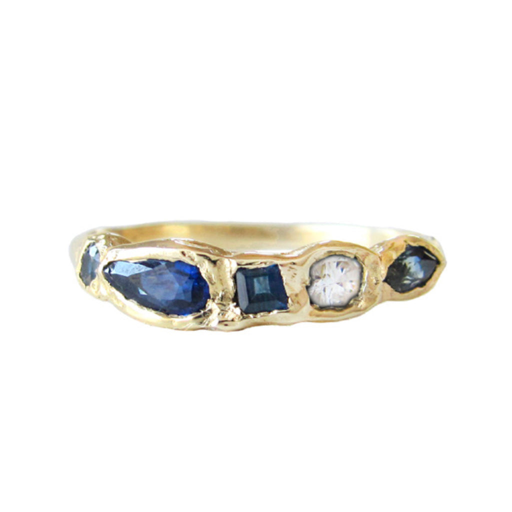 Journey Treasure Whitecap Ring in 14K Yellow Gold