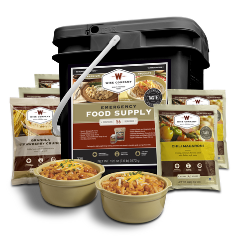 Wise Foods - Black Label - 56 Serving Breakfast and Dinner Entrées