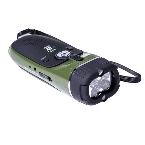 12 Survivors - EMERGENCY HAND CRANK RADIO/FLASHLIGHT
