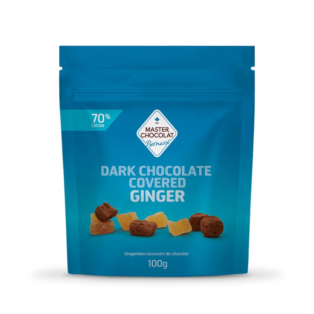 ginger in dark chocolate - 100g -