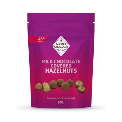 hazelnuts - covered in dark or milk chocolate -