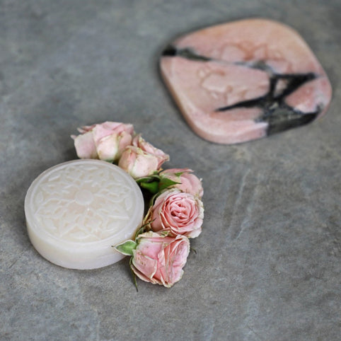 Pink Marble with Rose of Damascus