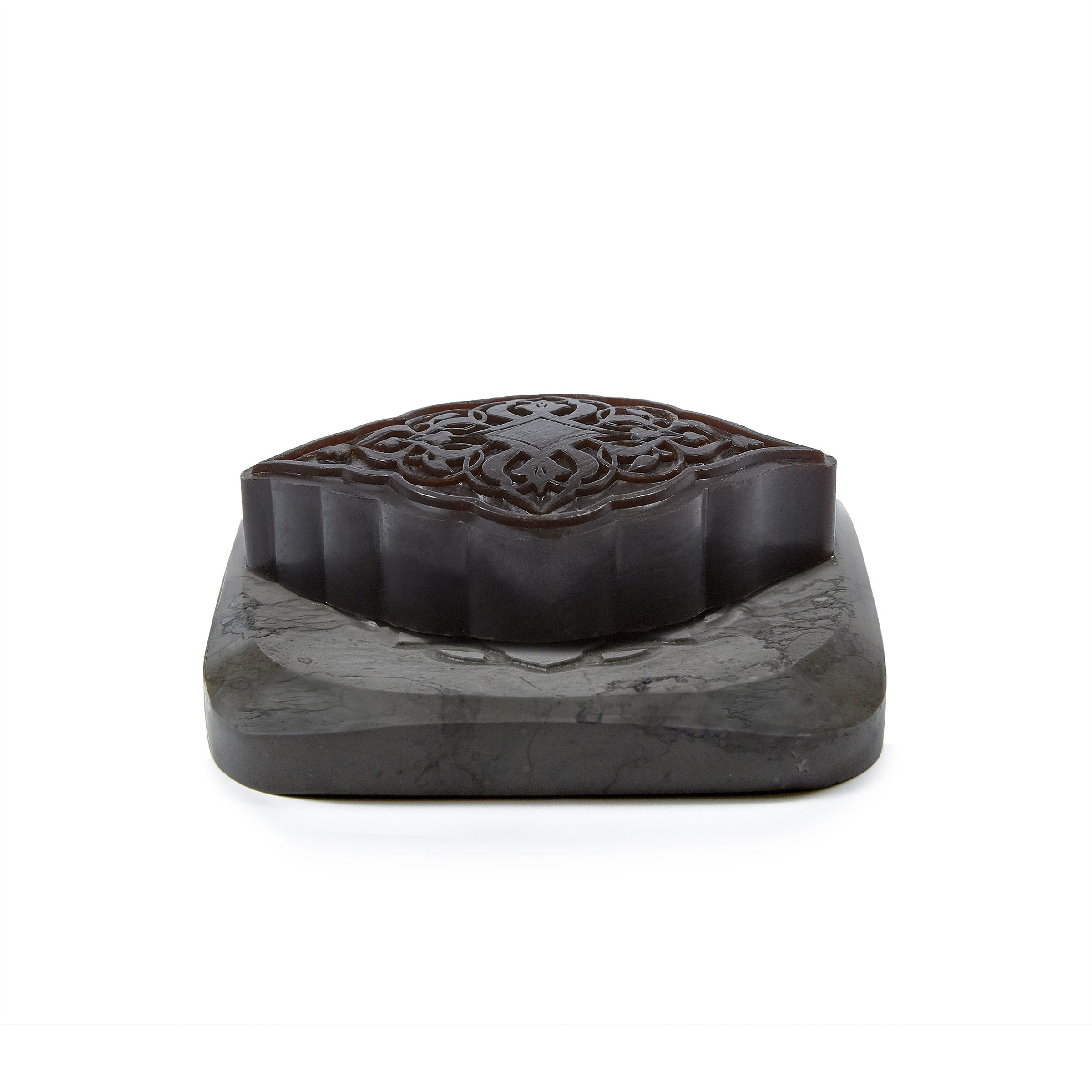 Grey Marble Plate with Amber Ma'amoul Soap