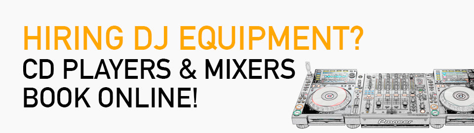 DJ Equipment Banner