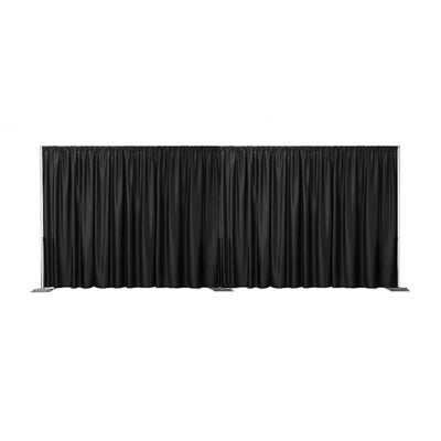 Black Velvet Curtain 6m Front