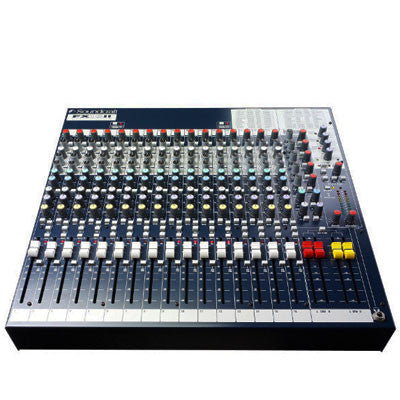 Soundcraft FX16ii Mixing Desk Front Angle