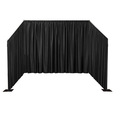 Black Curtain Booth Front
