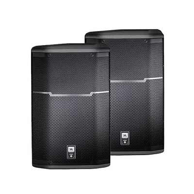 Pair of JBL PRX615 Powered Speakers Front