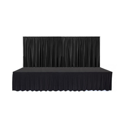 Black Curtain Stage Long Front
