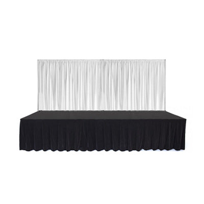 White Curtain Stage Long Front