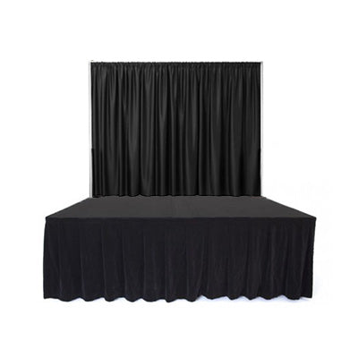 Black Curtain Stage Front
