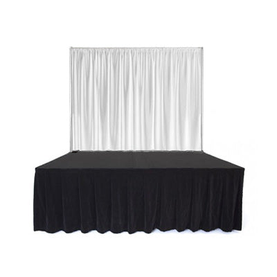 White Curtain Stage Front