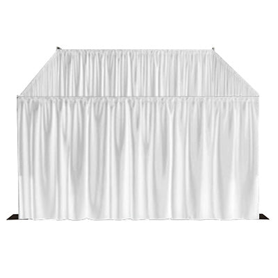 White Curtain Room Front