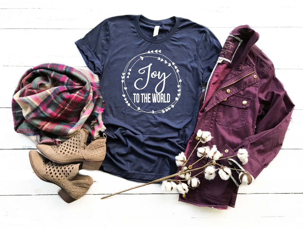 Women's Christmas Shirt - Joy to the World Shirt - Christmas Hymn Shirt - Merry Christmas Shirt - Christmas Shirts for Women - Gift for Her