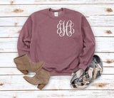 Monogrammed Sweatshirt Women | Initial Shirt | Gift for Bride | Mom Shirt |Monogram Womens Pullover