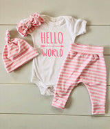 Baby Girl Outfit, Coming Home Baby, Monogrammed Outfit, Baby Girl Monogrammed Outfit, Baby Coming Home,  Newborn Baby Outfit