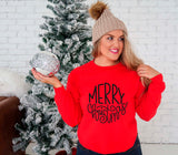 Merry Christmas Sweatshirt, Holiday Sweatshirt, Christmas Outfits, Ladies Sweatshirt, Christmas Outfit, Merry Christmas Shirt